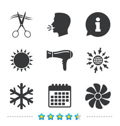 hotel services icon air conditioning hairdryer vector image vector image