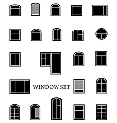 isolated window set vector image vector image