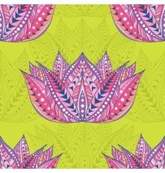 Lotus seamless ethnic pattern vector image vector image