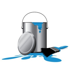 paint pot vector image vector image