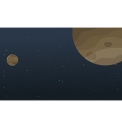 Planet space cartoon background vector image vector image