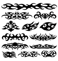 Racing car vinyl decoration motorbike decals and vector