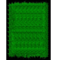 Rectangle green grass banner background vector image