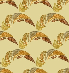 Reddish-brown color seamless pattern with ears of vector