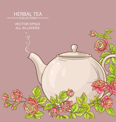 Rose tea background vector