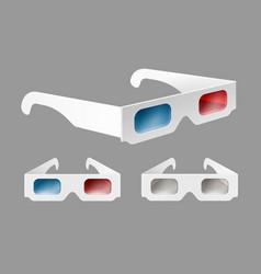 set of 3d glasses vector image