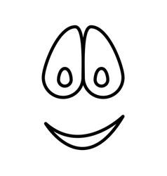Sketch silhouette emoticon smile expression vector