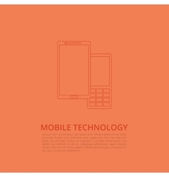 Smartphone and phone with buttons vector image