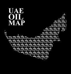 Uae oil map silhouette maps of united arab vector