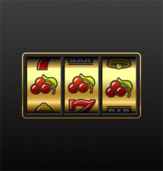 winning in slot machine vector image vector image
