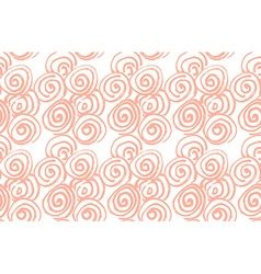 Hand drawn black brush abstract spiral seamless vector