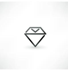 Diamond symbol design icon vector image