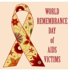 AIDS victims background retro vector image
