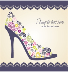 shoes card with lace vector image