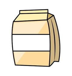 Milk box carton isolated icon vector