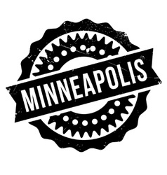Minneapolis stamp rubber grunge vector image