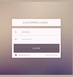 Minimal login form template design for website vector