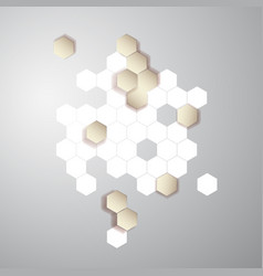 abstract color 3d hexagonal honeycombs vector image