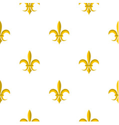 Gold royal lily pattern flat vector