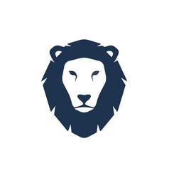 lion head silhouette logo template vector image