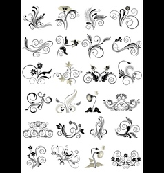 Collection flourishes patterns for design vector image