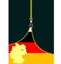 Al 0722 zipper germany flag vector