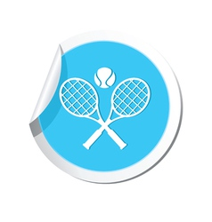 Tennis blue label vector