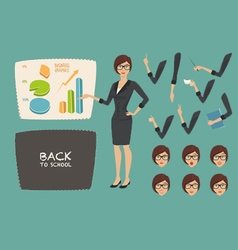Business concept young women vector