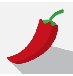 Red paprika and long shadow vector