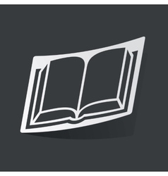 Monochrome book sticker vector