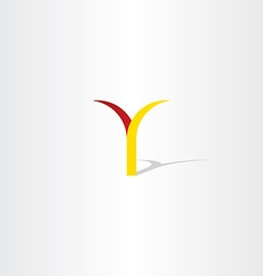 logo y letter y red yellow icon vector image