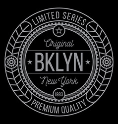 New york brooklyn typography vector