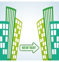 Way design street and road sign concept editable vector