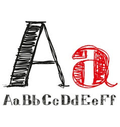Sketch Alphabet New 01 vector image