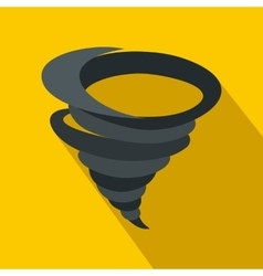 Tornado icon in flat style vector