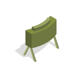 Military mine icon in isometric 3d style vector
