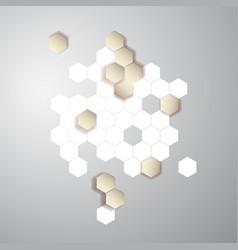 Abstract color 3d hexagonal honeycombs vector