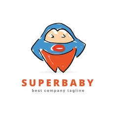 Abstract super baby hero monster logo icon concept vector image