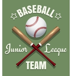 Baseball game team emblem vector image vector image