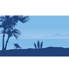 Beautiful seaside at the morning scenery vector