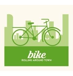 Bike lifestyle design vector