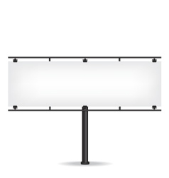 Blank black billboard on white background vector image vector image