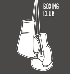 Boxing club poster with boxing gloves and banner vector