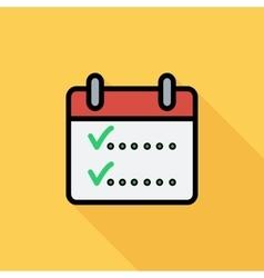 Calendar with chek vector