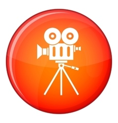 Camcorder icon flat style vector