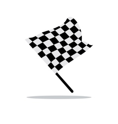 Checkered flag Cartoon vector image