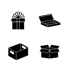 Crates simple related icons vector