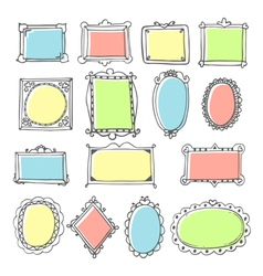 design elements Sketch of hand drawing frames and vector image vector image