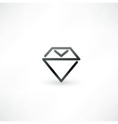 Diamond symbol design icon vector image