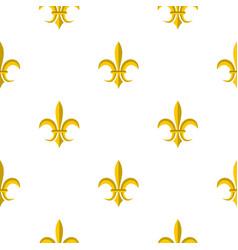 gold royal lily pattern flat vector image